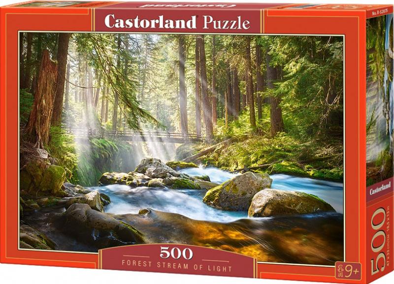 Puzzle Castorland 500 dílků - Říčka ve slunečním svitu