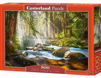 Puzzle 500 dílků-  Říčka ve slunečním svitu
