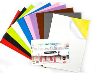 Filc - Samolepicí, mix barev, 10 ks, A4, 180 g