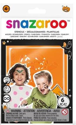 Šablony na obličejové barvy 6ks - Halloween