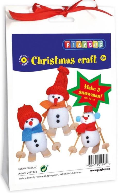 Vytvořte si sněhuláky, 12 cm - sada