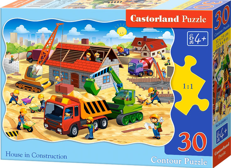Puzzle Castorland 30 dílků - Stavba domu
