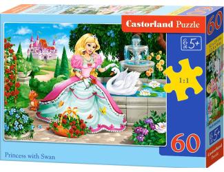Puzzle 60 dílků - Princezna a labuť