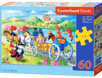 Puzzle Castorland 60 dílků - Kocour v botách