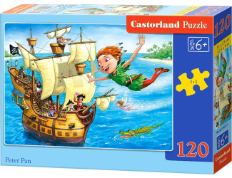 Puzzle Castorland 120 dílků - Petr Pan