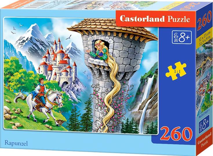 Puzzle Castorland 260 dílků - Princezna s dlouhými vlasy