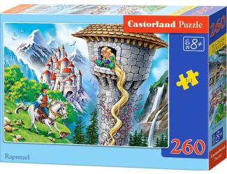 Puzzle 260 dílků- Princezna s dlouhými vlasy