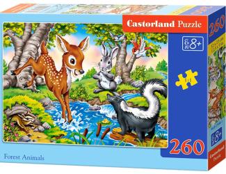 Puzzle 260 dílků- Lesní zvířátka