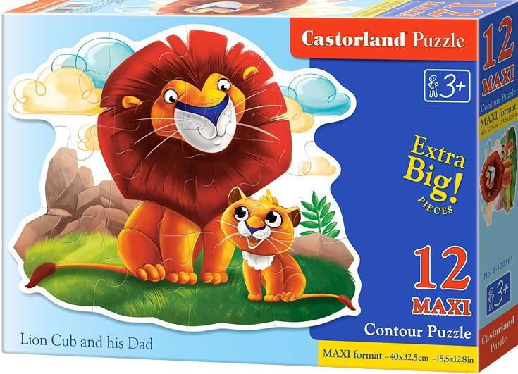 Puzzle Castorland Contour MAXI 12 dílků - Lev a lvíče