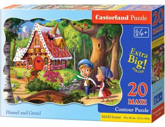 Puzzle maxi 20 dílků - Jeníček a Mařenka