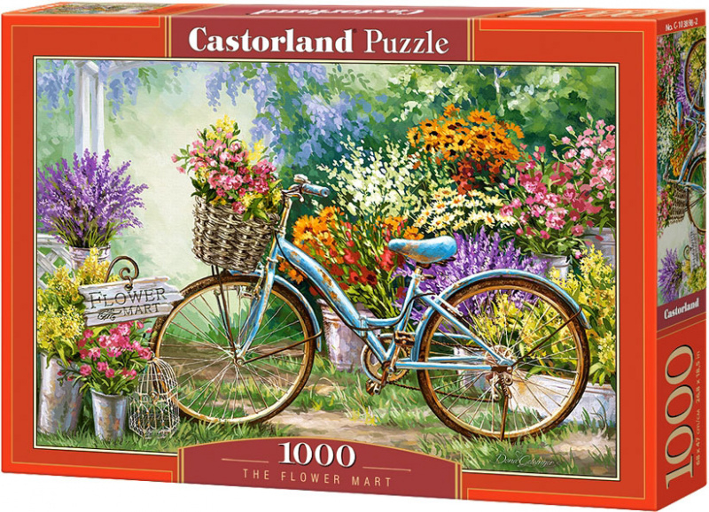 Puzzle Castorland 1000 dílků - Květinový trh