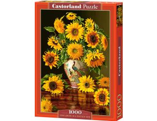 Puzzle Castorland 1000 dílků - Slunečnice ve váze