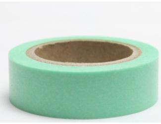 Dekorační lepicí páska - WASHI páska-1ks světle zelená