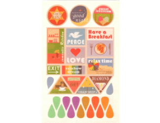Samolepicí značky - různých tvarů a s nápisy - 19 ks