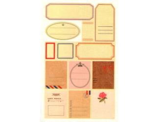 Samolepicí značky - popisky různé tvary - 13 ks
