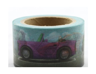 Dekorační lepicí páska - WASHI pásky -1ks autíčka