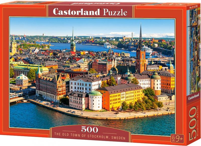 Puzzle Castorland 500 dílků - Staré Město ve Stockholmu, Švédsko