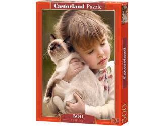 Puzzle 500 dílků- Holčička s kočičkou