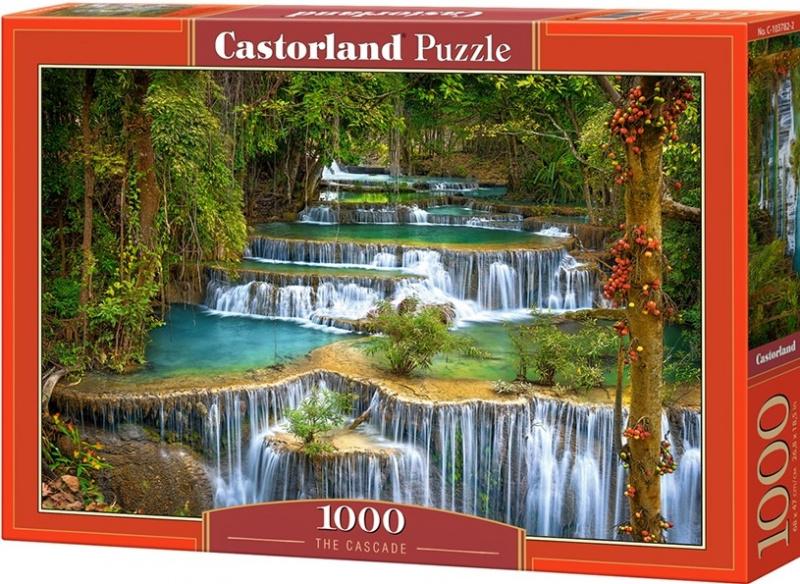 Puzzle Castorland 1000 dílků - Kaskádový vodopád