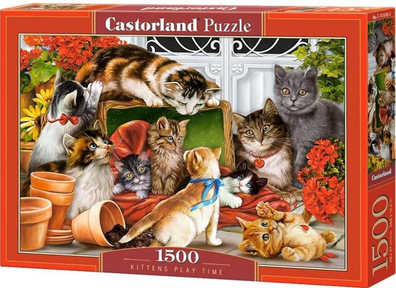 Puzzle Castorland 1500 dílků - Čas kočičích her
