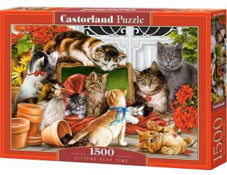 Puzzle 1500 dílků- Čas kočičích her