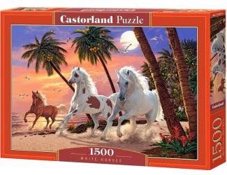 Puzzle 1500 dílků-Koně na pláži