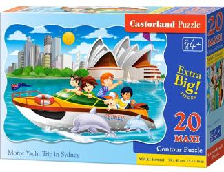 Puzzle maxi 20 dílků - Výlet na lodi v Sydney