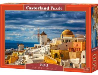 Puzzle 500 dílků-  Výhled na Oia Santorini