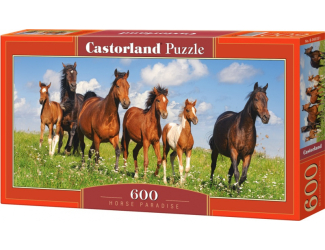 Puzzle 600 dílků - Koně na louce