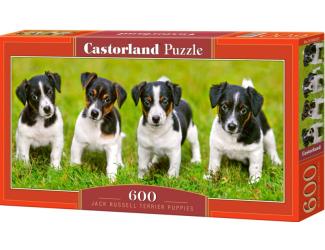 Puzzle 600 dílků - Štěňata Jack Russel Terrier