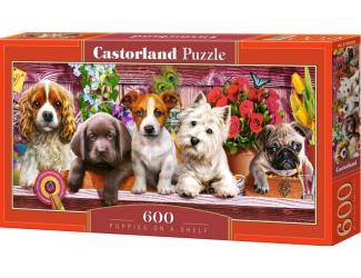 Puzzle 600 dílků - Štěňata