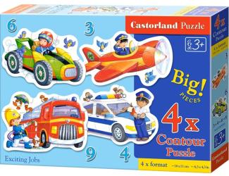 Puzzle Castorland sada 4v1mini - Zajímavá povolání