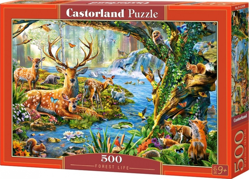 Puzzle Castorland 500 dílků - Život v lese