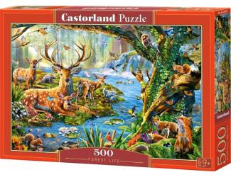 Puzzle 500 dílků- Život v lese