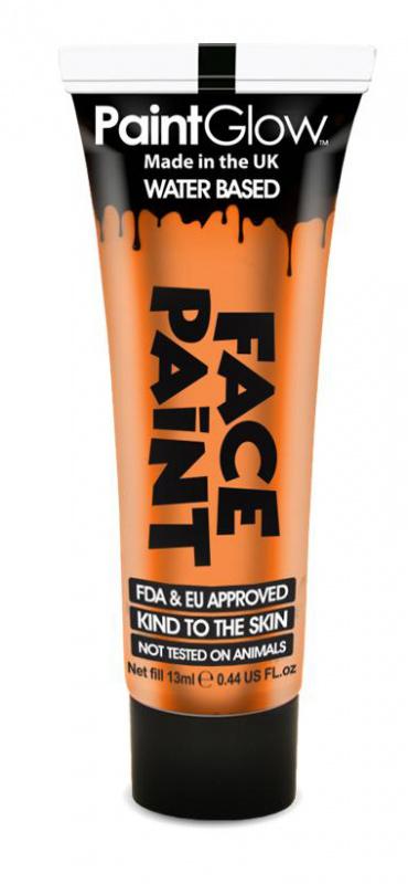 """Barva na obličej 13 ml - oranžová """"Orange"""""""