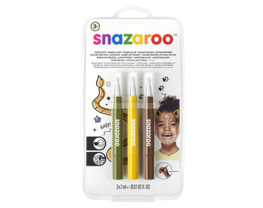 """Štětce """"brush pen"""" naplněné barvou na obličej - džungle"""