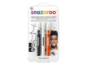"""Štětce """"brush pen"""" naplněné barvou na obličej - halloween"""