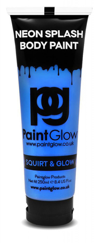 "Barva na tělo ""UV neon"" 250 ml - Modrá ""Blue"""