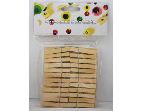 Kolíčky dřevěné přírodní - 48 ks, 46 x 70 mm