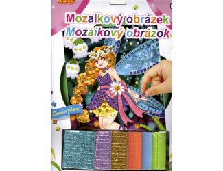 Mozaikový obrázek - Květinová víla
