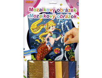 Mozaikový obrázek - Mořská panna
