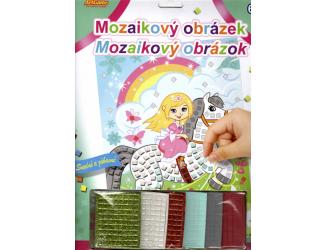 Mozaikový obrázek - Popelka na koni