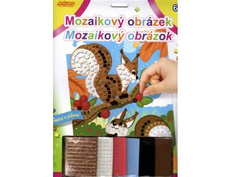 Mozaikový obrázek - Veverky
