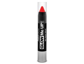 Tužka na obličej UV neon 3,5 g červená (red)