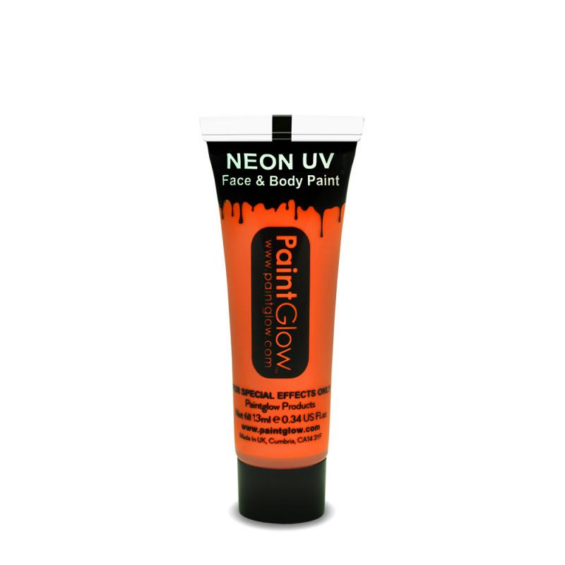 Barvy na obličej UV neon 13 ml - oranžová (UV orange)