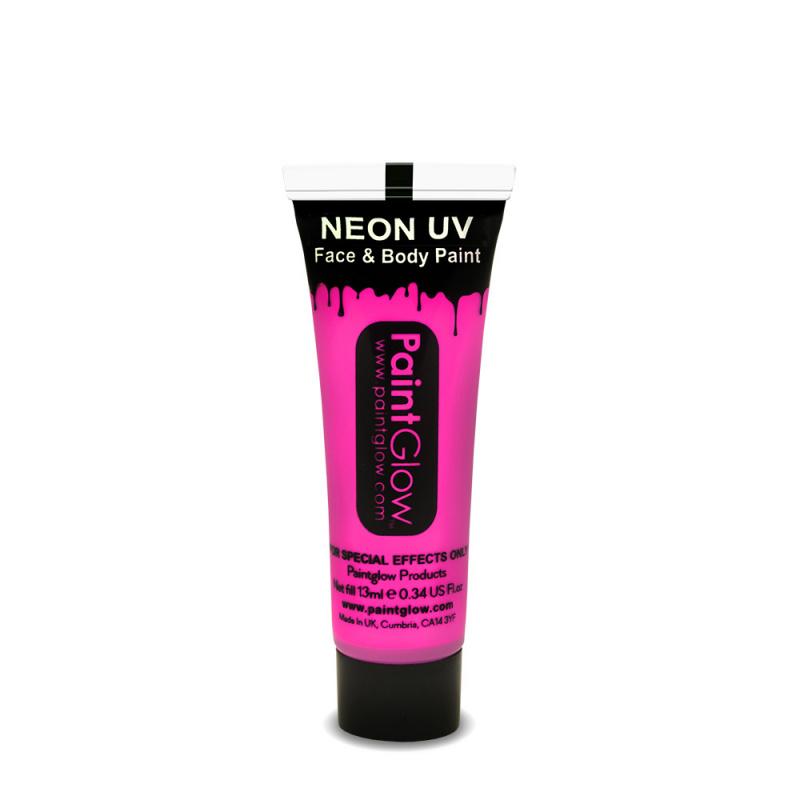 Barvy na obličej UV neon 13 ml - růžová (neon pink)
