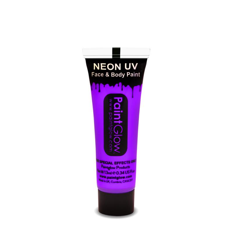 Barvy na obličej UV neon 13 ml - fialová (UV purple)