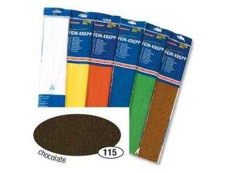 Krepový papír- Hnědý tmavý 50cm x 2,5m