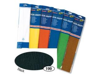 Krepový papír- Černý 50cm x 2,5m
