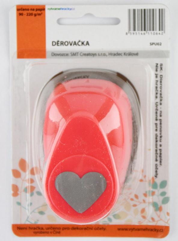 Děrovačka 25 mm - Srdce